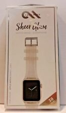 Case-Mate 38mm Sheer Glam Watch Band for Apple Watch Series 1 2 3 Champagne