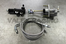 Exedy Master & Slave Cylinder & Silver Clutch Line Kit 92-01 Honda Prelude