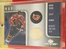 2001-02 MVP Souvenirs Patrik Stefan Game used stick hockey card