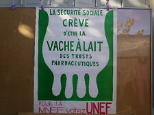 MAI 68 - AFFICHE AUTHENTIQUE - SECURITE SOCIALE / VACHE A LAIT - MNEF / UNEF