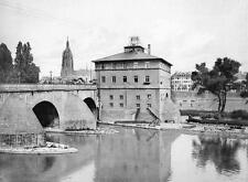 Photo. ca 1910. Frankfurt Am Main, Germany. Bridge & Bridge Mill