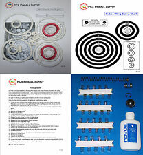 1976 Zaccaria Moon Flight Pinball Machine Tune-up Kit - Includes Rubber Rings!