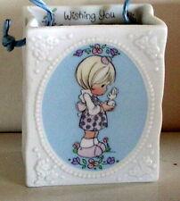 Enesco Precious Moments 1993 Porcelain Gift Bag box Happy Spring Rare