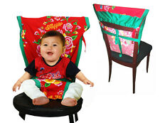 New portable baby chair/high chair harness, red floral