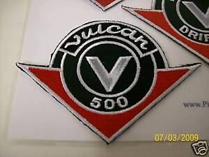 *NEW* Kawasaki Vulcan 500 logo patch heat seal