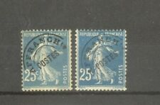"""FRANCE STAMP TIMBRE PREOBLITERES N°56+56a """"SEMEUSE 25c,2 SURCHARGE""""NEUFS xx B/TB"""