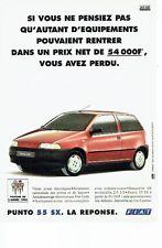 PUBLICITE ADVERTISING 126  1995   Fiat la Punto SX  voiture de l'année