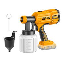 INGCO Cordless Paint Sprayer Lithium-Ion Fence Paint Sprayer Electric Paint Gun