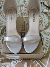 Boohoo Size 6 New Silver Sandles Stunning shoes wedding prom races