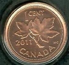 2011 Penny 1 One Cent '11 Canada-Canadian BU Coin UNC RCM - Mark - Non-Magnetic