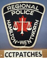 HAMILTON WENTWORTH, CANADA REGIONAL POLICE SHOULDER PATCH 2
