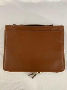 Coach Leather Executive Business Zipped Portfolio Tan