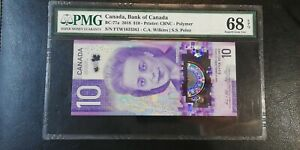 2018 Canada $10 P-77a PMG 68 EPQ Superb Gem UNC