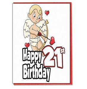 Cupid Birthday Card Husband Wife Boyfriend Girlfriend Partner Lover ANY AGE