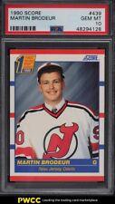 1990 Score Hockey Martin Brodeur ROOKIE RC #439 PSA 10 GEM MINT