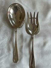 New listing Gorgeous Dominick & Haff Sterling Silver Queen Anne Plain Salad Serving Set
