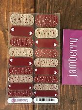 Jamberry *Love Spell* Full RETIRED Valentines Red Silver Sparkle Twitterpated