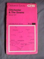 Ordnance Survey Landranger Map - Sheet 197 Chicheter & The Downs - 1:50 000 1974