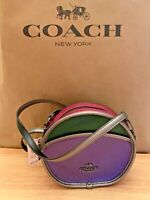 Coach F55593 Smooth Leather Metallic Colorblock Crossbody Shoulder Bag  $298