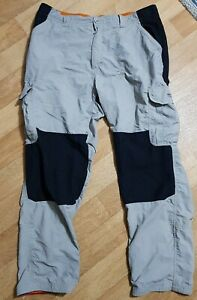 """Mens black and grey Bear Grylls by Craghoppers Walking Trousers. W42"""" Long."""