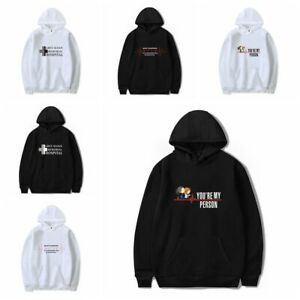 Trend Grey's Anatomy Hooded Round Neck Sweater Winter Clothes for Men and Women