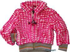 New Girls Kidz Art 4 yrs pink white faux fur jacket European Designer 104 cm