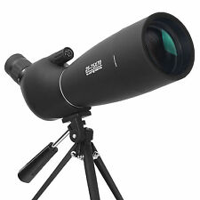 25-75X70 Spotting Scope Monocular Telescope BAK4 HD Prism Waterproof With Tripod