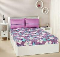 Blumenmuster Wirbel 144 TC 100% Doppel Baumwolle Bettlaken Mit 2 Kissenbezüge,