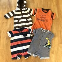Baby Boy 0-3/3Months Bodysuits Outfits One-Pieces Spring Summer Lot Of 4