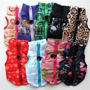 Small Pet Dog Cat Puppy Warm Padded Vest Harness Sweater Jacket Apparel Clothes