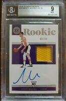2018-19 Panini Encased Moritz Wagner Jersey Autograph BGS 9 Mint Graded #209