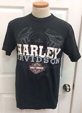 Harley Davidson Motorcycles Singapore T-Shirts Mens Sz M Black 100% Cotton