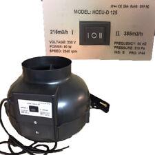 Rohrventilator Rohrlüfter 2 Stufen 125 mm 80W 215 / 385 m³/h