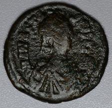 Anastasius I 491-518AD bronze 1/2 Follis F/VF Byzantine Constantinople