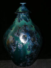 Paul Brown Porcelain Pottery, Crystalline Glaze, Hand Thrown JAR,  Fine Art,