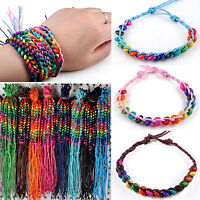 Wholesale 100 Pcs Lots Handmade Genuine Charms Leather Wrap Bracelets Friendship