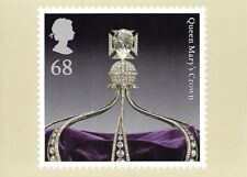 ROYAL MAIL STAMP POSTCARD<>CROWN JEWELS<>QUEEN MARY'S CROWN  ~~