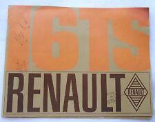 BROCHURE publicitaire -  VOITURE  RENAULT 16 TS   de 1969