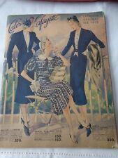 Ancien catalogue général Galeries Lafayette 1938 Old catalogue of mode