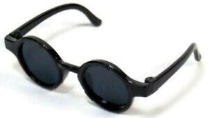 "Black Circle Frame Sunglasses fits 14.5"" American Girl Wellie Wishers Doll"