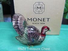 "Rare MONET ""TURKEY"" Collectible Enamel Keepsake Trinket Box  ** New In Box **"