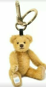 """Merrythought EDWARD KEYRING- Fully Jointed, 18kt Gold Plated, 6"""" - HARD TO FIND!"""