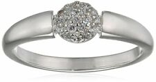 Elements Silver  - Silver & CZ  round Ring - Size R - New in Box - 925