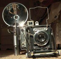 Miniature Speed Graphic Graflex Wartime Zeiss Tessar 11.5cm/4.5 Kodak speedgun E