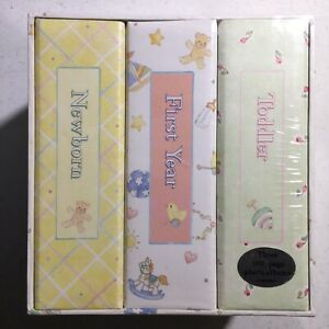 Baby's Library Photo Album 3 Volumes Newborn, First year and Toddler 300 photos