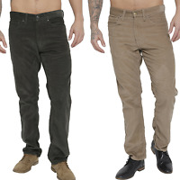 Mens Pure Cotton Jean Style Corduroy Trousers Cord Trousers