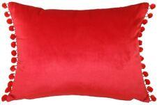 DE LUJO Evans Lichfield Pavo Terciopelo Rojo Escarlata POM Funda cojín x 43 33cm