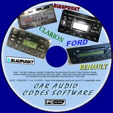 CAR AUDIO/RADIO/STEREO LOST CODE UNLOCK SOFTWARE PCCD INC FORD RENAULT BLAUPUNKT