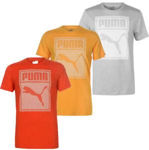 PUMA Herren Box QT T-Shirt Gr. S M L XL 2XL Shirt Tee Grau Gelb Rot neu