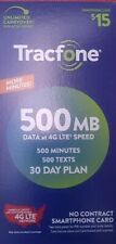 TracFone Smartphone 500 Minute 30 Day Airtime Card Refill Fast e-delivery.